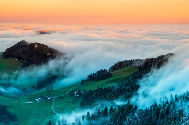 Sunset im Jura, Belchenflue