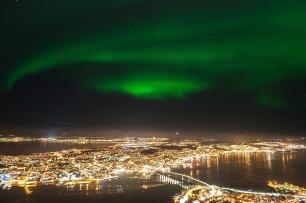Nordlicht über Tromsö