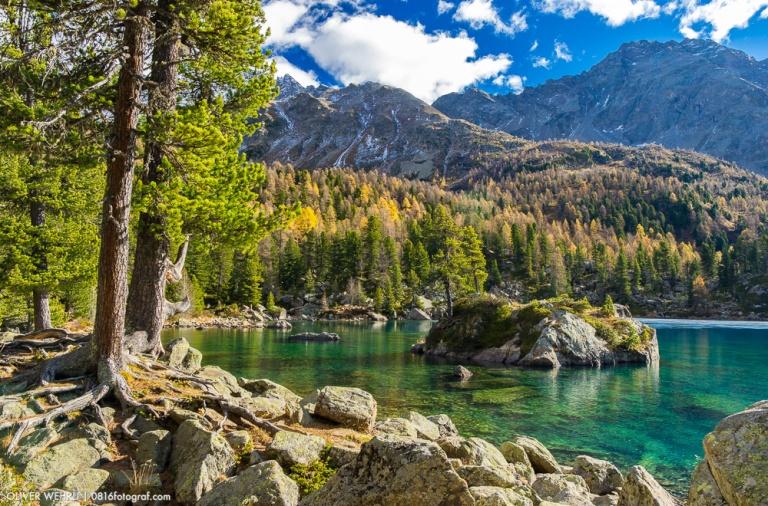 Lagh di Saoseo, Saoseo, See, Bergsee, Val di Campo, Poschiavo, Graubünden, Herbst, Herbstfoto, Landschaftsfotografie