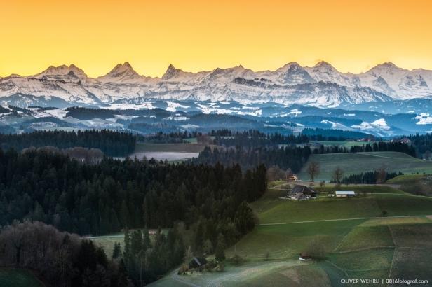 Berner Alpen von der Lueg, Emmental