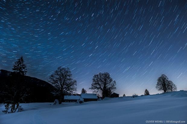 Sternenhimmel, Obersee, Glarus