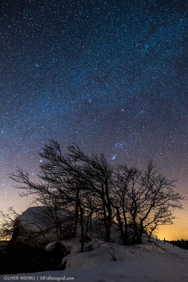 Sternenhimmel, Milchstrasse, Passwang