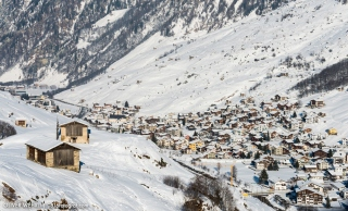 Dorf Vals von oben