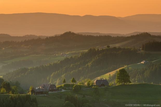 Lüderenalp, Luederenalp, Emmental, Bauernhof, Sonnenuntergang