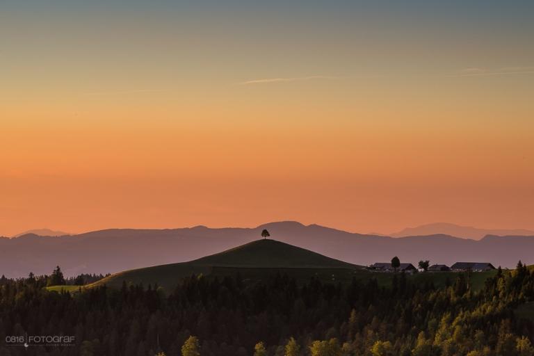 Emmental, Luederenalp, Sonnenuntergang, Schweizer Emmental
