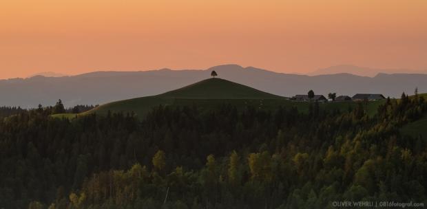 Emmental, Lüderenalp, Sonnenuntergang, Wasen i. E.