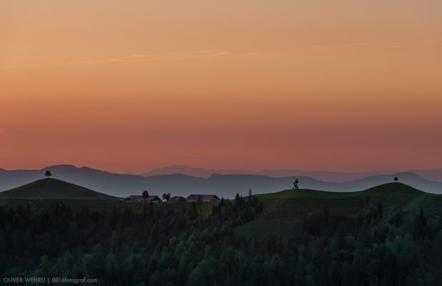 Emmental, Hügellandschaft, Berner Mittelland, Wasen, i. E.,