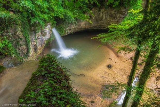 Giessen Wasserfall, Eital, Kilchberg, Baselland, Wasser, Bach,