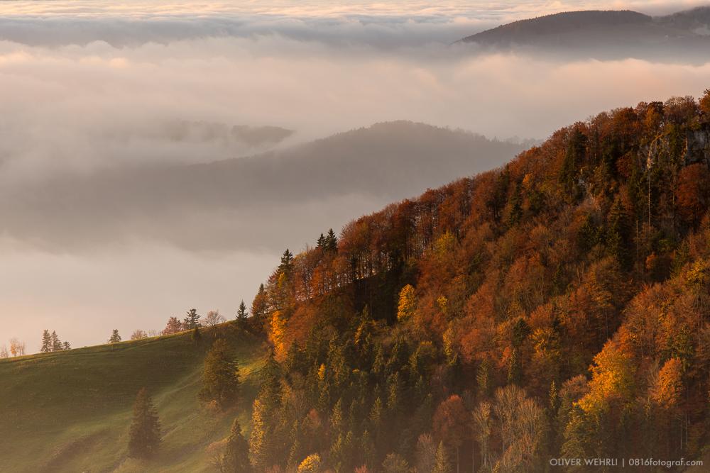 Passwang, Jura, Herbst, Nebel,