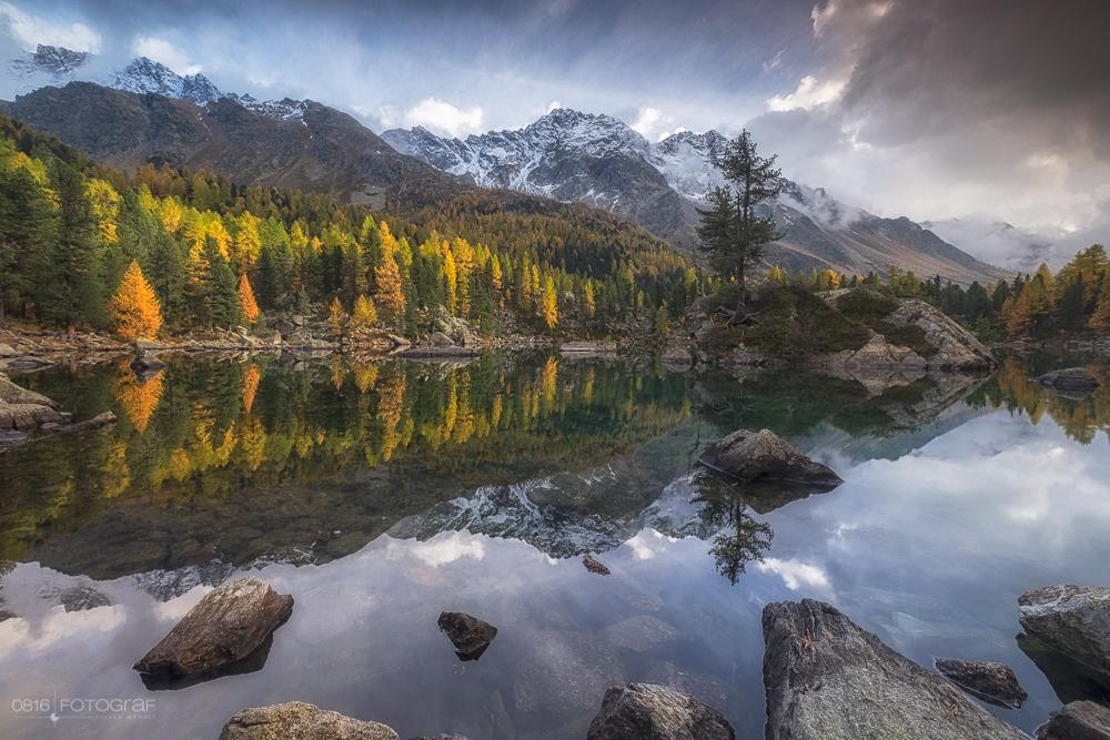 Bergbach, Saoseo, Lago di Saoseo, Val di Campo, Herbst, Indian Summer, Fuji X-T1, Fujinon, Landschaft, Landschaftsfotografie, Herbstfoto, Landschaftsfotografie