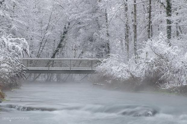 Aargau, Auerschutzpark, Aare, Winter, Wintereinbruch