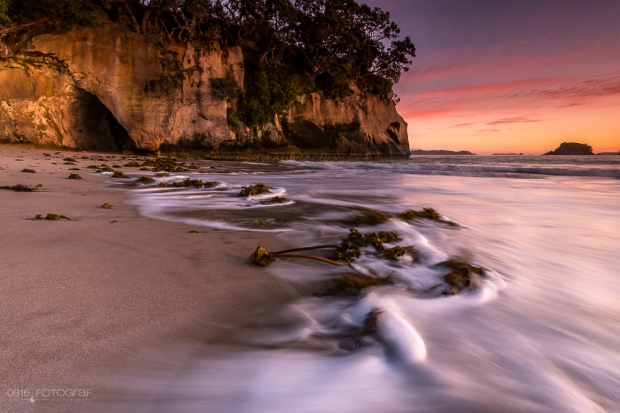 Cathedral Cove, Neuseeland, Sunrise, Beach, Strand