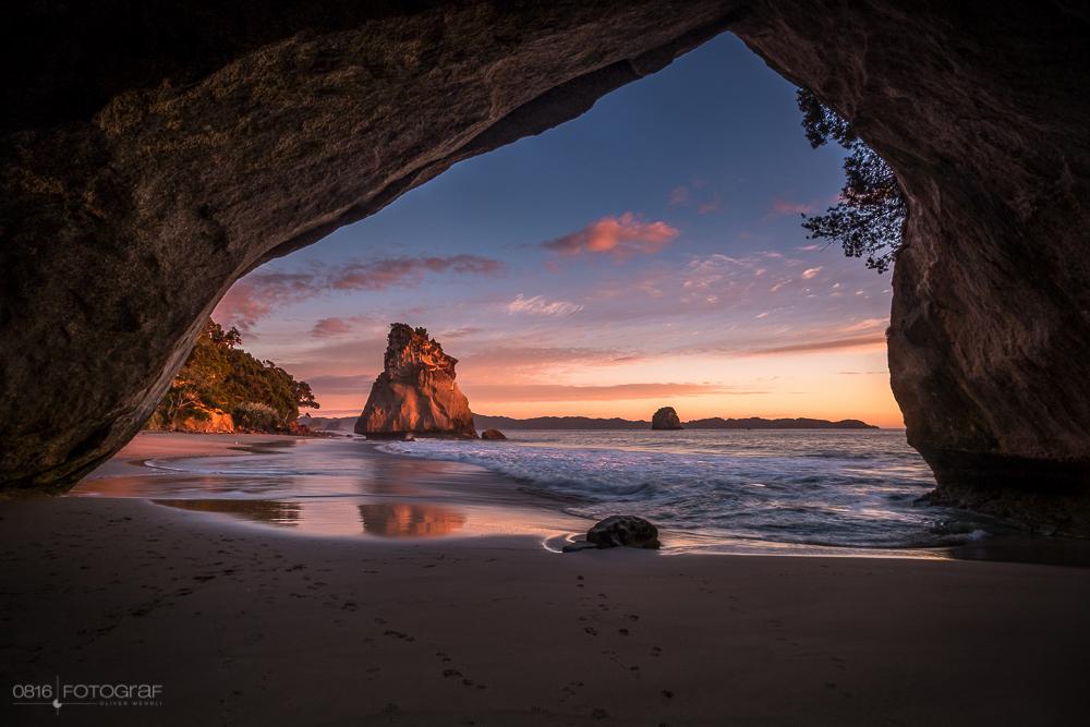Coromandel, Cathedral Cove, Neuseeland, Sonnenaufgang, Sunrise, Seascape, Landschaftsfotografie