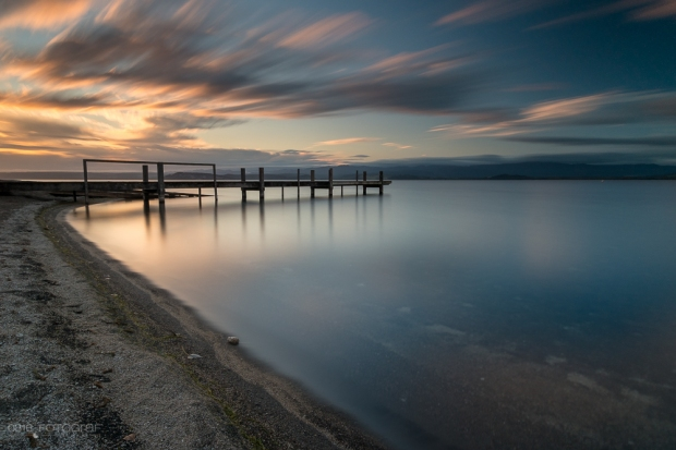 Lake Taupo, See, Sonnenaufgang, Sunrise, Neuseeland, New Zealand, Taupo