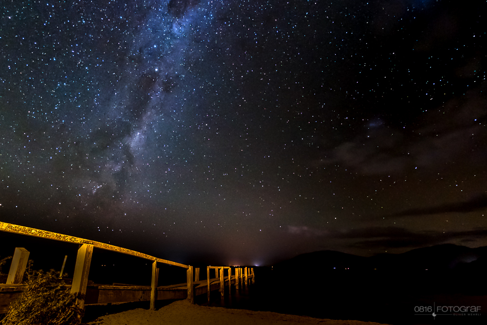 Milchstrasse, Milkyway, Sternenhimmel, Lake Taupo, Neuseeland, See, Nacht, Sterne