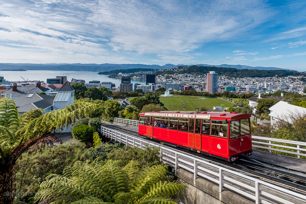 Neuseeland, Wellington, Cable Car, Stadt, Hafenstadt, Neuseeland, New Zealand,