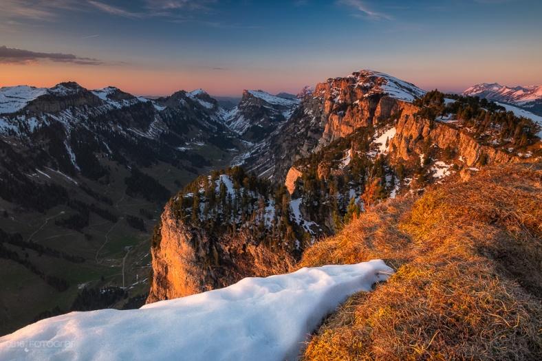 Niederhorn, Berner Oberland, Sonnenuntergang, Landschaft