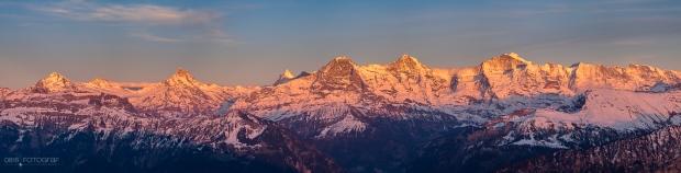 Niederhorn, Berner Oberland, Sonnenaufgang, Landschaft, Eiger, Mönch, Jungfrau, Schreckhorn, Wetterhorn, Finsteraarhorn