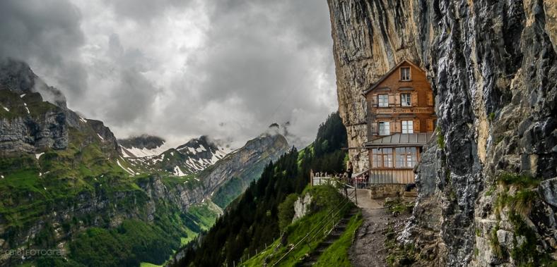 Äscher, Wildkirchli, Ebenalp, Alpstein, Seealpsee, Appenzellerland