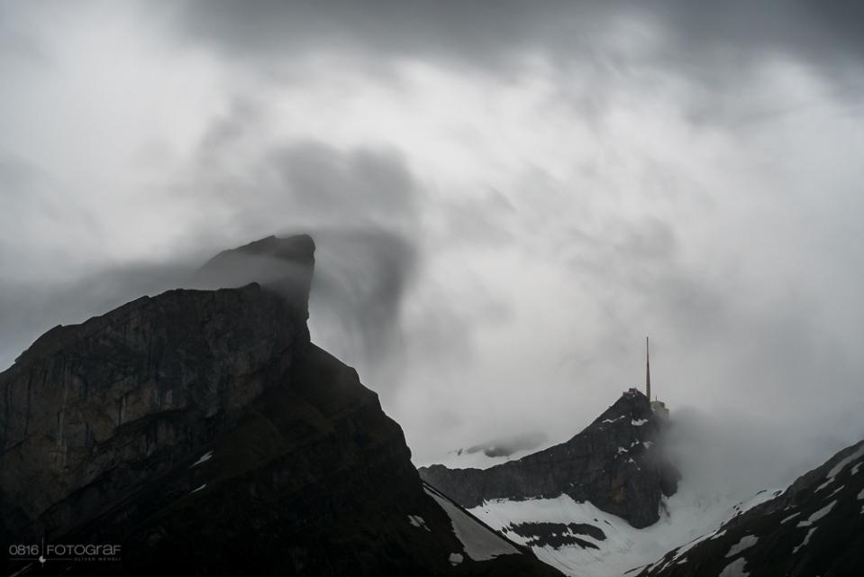 Säntis, Antenne Säntis, Alpstein, Seealpsee, Appenzellerland