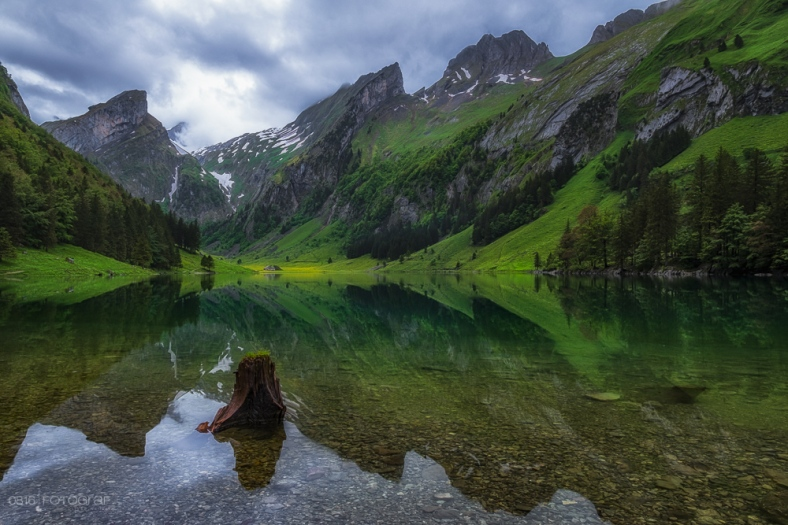 Seealpsee, Alpstein, Appenzell, Bergsee, Bergfrühling, See, Fuji, Fuji X-Pro2
