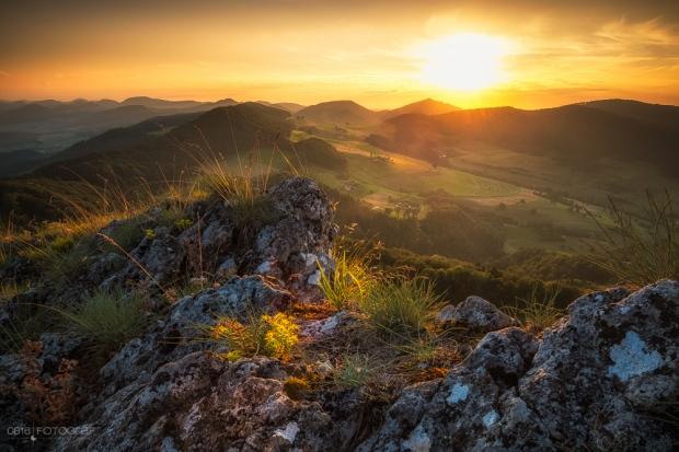 Jura, Jura Südfuss, Gisliflue, Schenkenbergertal, Sonnenuntergang