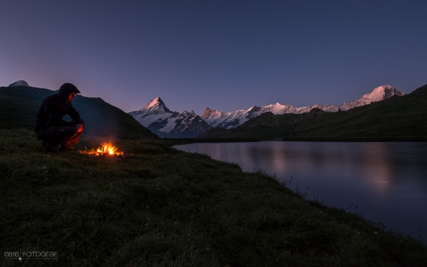 Grindelwald First, Bachalpsee, Bergsee, Berner Oberland, Schreckhorn, Wetterhorn, Finsteraarhorn, Bergspiegelung,