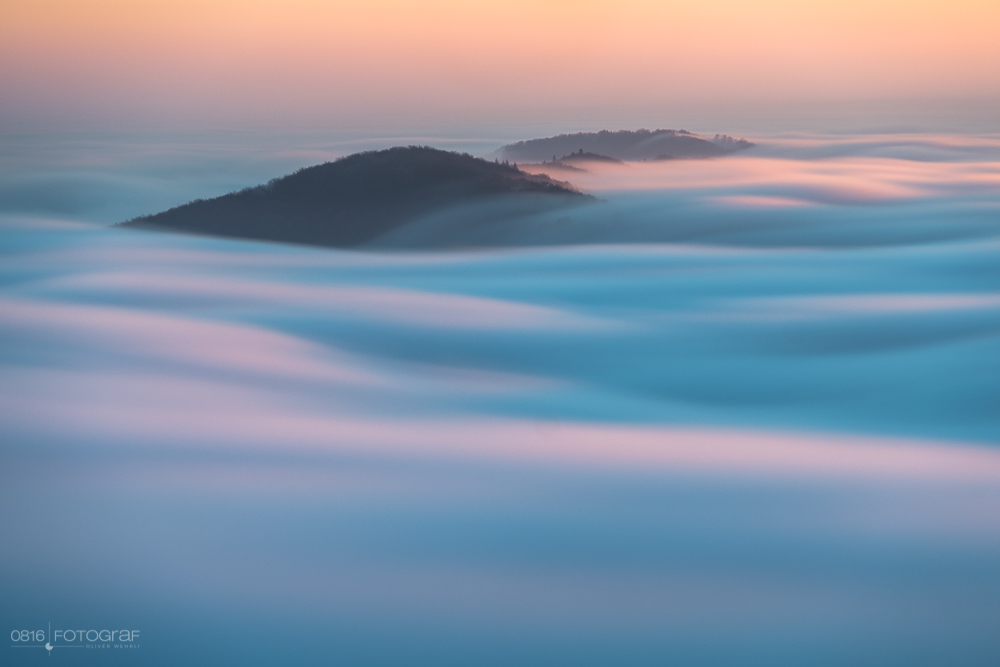 Nebel, Nebelmeer, Winter, Sonnenstrahlen, Morgen, Wasserflue, Aargau, Jura, Schweiz, Landschaftsfotografie, Oliver Wehrli, Fujifilm, Fuji X-Pro2, Nebelmeer