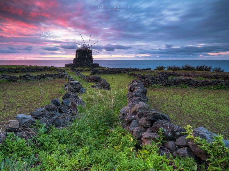 Azoren, Windmühle, Sunrise, Sonnenaufgang, Portugal, Insel, Atlantik, Azoren, GFX, GFX 50s, Mittelformatkamera, Fujifilm